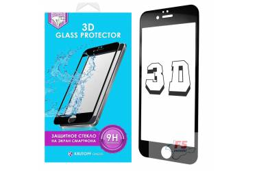 Защитное стекло 3D Krutoff Group для iPhone 7 Plus (black)