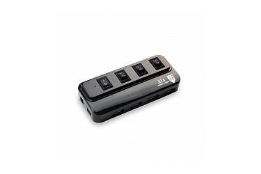Аксессуар компьютерный Jet.A JA-UH15 на 4 порта USB 2.0, с выключателями портов, чёрный