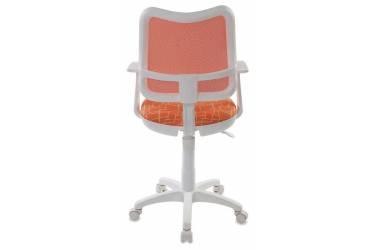 Кресло детское Бюрократ CH-W797/OR/GIRAFFE спинка сетка оранжевый сиденье оранжевый жираф Giraffe (пластик белый)