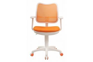 Кресло детское Бюрократ Ch-W797 оранжевый сиденье оранжевый TW-96-1 сетка/ткань крестовина пластик пластик белый