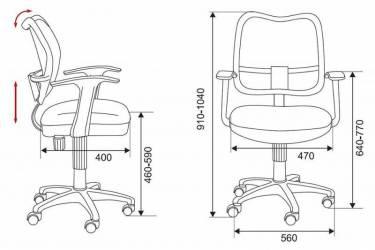 Кресло детское Бюрократ CH-W797/R/TW-97N спинка сетка красный сиденье красный TW-97N (пластик белый)