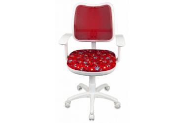Кресло детское Бюрократ CH-W797/RD/ANCHOR-RD спинка сетка красный сиденье красный якоря ANCHOR-RD сетка (пластик белый)