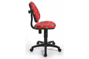 Кресло детское Бюрократ KD-4/R красный божьи коровки LB-Red
