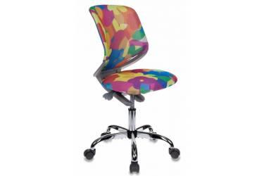 Кресло детское Бюрократ KD-7/ABSTRACT мультиколор сиденье мультиколор абстракция ABSTRACT сетка крестовина хром колеса серый (пластик серый)