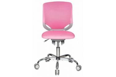 Кресло детское Бюрократ KD-7/TW-13A розовый TW-13A крестовина хром колеса серый (пластик серый)