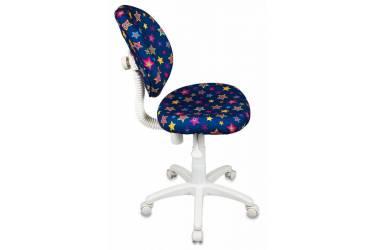 Кресло детское Бюрократ KD-W6/STAR-BL синий звезды STAR-BL (пластик белый)