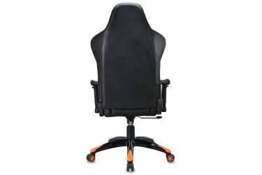 Кресло игровое Бюрократ CH-773/BLACK+OR одна подушка черный/оранжевый искусственная кожа (пластик черный)
