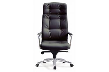 Кресло руководителя Бюрократ _DAO/BLACK черный кожа крестовина алюминий