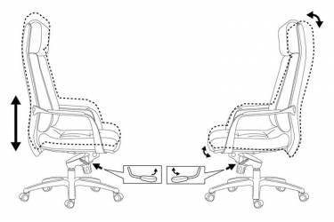 Кресло руководителя Бюрократ _DAO/WHITE белый кожа крестовина алюминий