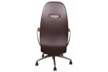 Кресло руководителя Бюрократ _ZEN/BROWN коричневый кожа крестовина алюминий