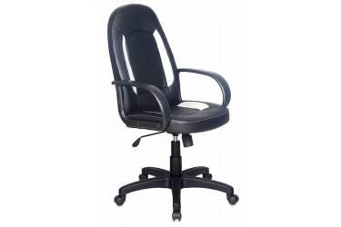 Кресло руководителя Бюрократ CH-826/B+WH вставки белый сиденье черный искусственная кожа