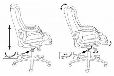 Кресло руководителя Бюрократ CH-838AXSN/F4 темно-серый F4 искусственный нубук