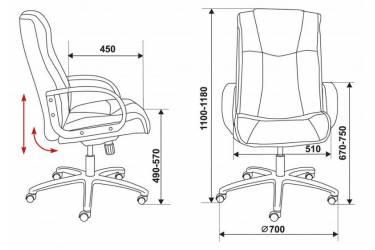 Кресло руководителя Бюрократ CH-838AXSN/F5 коричневый F5 искусственный нубук
