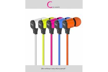 Наушники Yison CX370 внутриканальные с микрофоном оранжевые