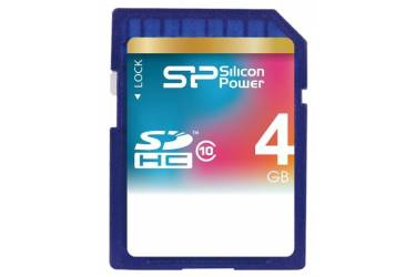 Карта памяти Silicon Power SDHC 4GB Class 10