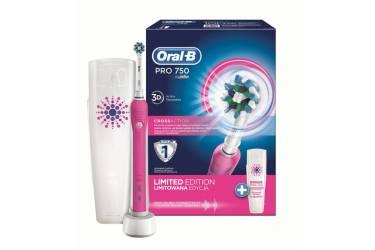 Зубная щетка электрическая Oral-B PRO 750 Cross Action розовый
