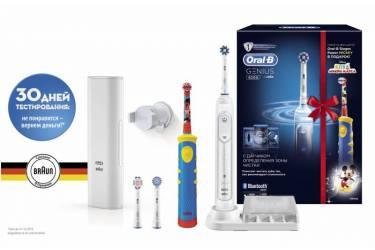 Набор электрических зубных щеток Oral-B Genius 8200 белый