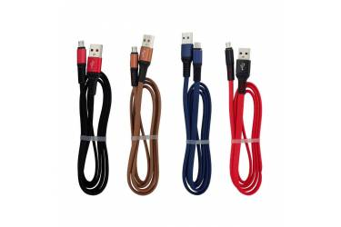 Кабель GAL micro USB 1m зеленый, тканевый