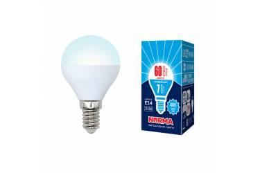 Лампа светодиодная Uniel Norma LED-G45-7W/NW/E14/FR/NR 4000K шар