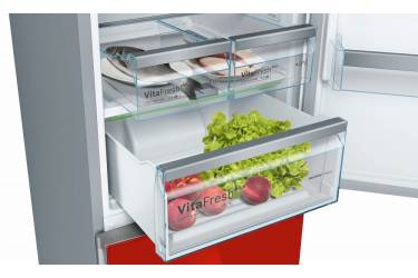 Холодильник Bosch KGN39JR3AR красное стекло (двухкамерный)