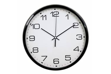 Часы настенные аналоговые Бюрократ WallC-R07P черный