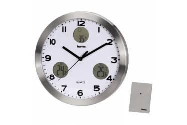 Часы настенные аналоговые Hama AG-300 H-113982 серебристый