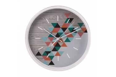 Часы настенные аналоговые Hama PG-260 серый