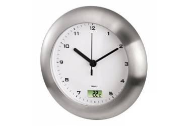 Часы настенные аналоговые Hama Bathroom H-113914 серебристый