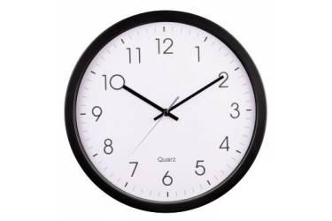 Часы настенные аналоговые Hama PG-350 H-113976 черный/белый