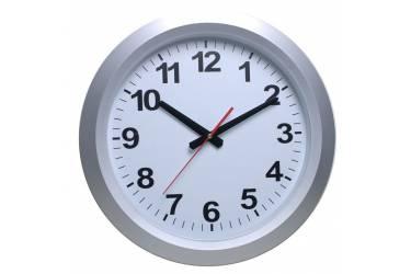 Часы настенные аналоговые Бюрократ WallC-R010P серебристый