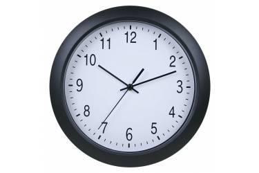 Часы настенные аналоговые Бюрократ WallC-R02P черный