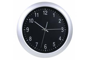Часы настенные аналоговые Бюрократ WallC-R02P серебристый