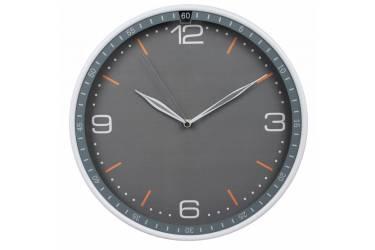 Часы настенные аналоговые Бюрократ WallC-R06P серый