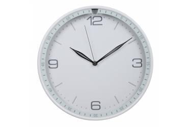 Часы настенные аналоговые Бюрократ WallC-R06P белый
