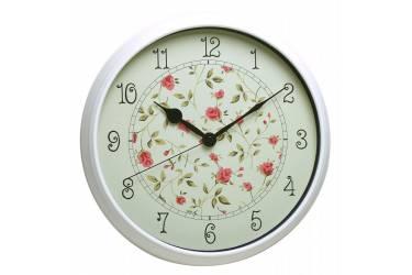 Часы настенные аналоговые Бюрократ WallC-R23P белый