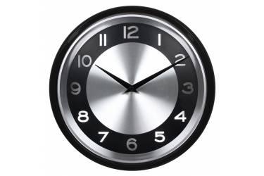 Часы настенные аналоговые Бюрократ WallC-R24P черный