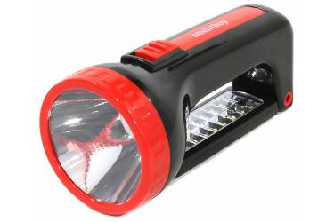 Фонарь SmartBuy аккумуляторный прожектор 2 в 1 1W+18 SMD, черный