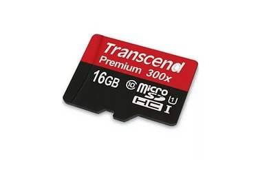 Карта памяти Transcend MicroSDHC 16GB Class UHS-I (300x)