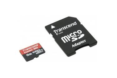 Карта памяти Transcend MicroSDHC 16GB Class UHS-I (300x)+adapter