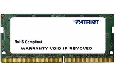 Память DDR4 4Gb 2400MHz Patriot PSD44G240082S RTL PC4-19200 CL17 SO-DIMM 260-pin 1.2В dual rank