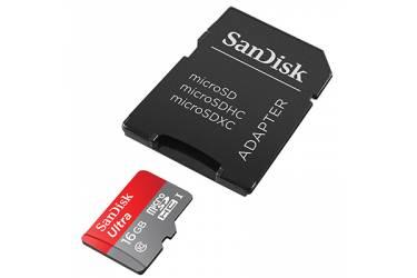 Карта памяти SanDisk MicroSDHC 16GB Class 10 UHS-I Ultra Imaging (80MB/s) + adapter