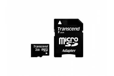 Карта памяти Transcend MicroSD 2GB+adaper