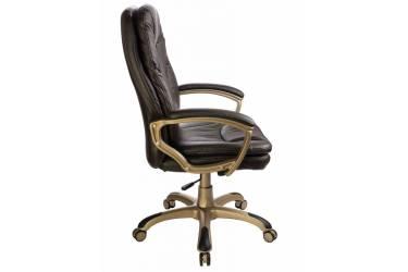 Кресло руководителя Бюрократ Ch-868AXSN темно-коричневый искусственная кожа крестовина пластик пластик золото