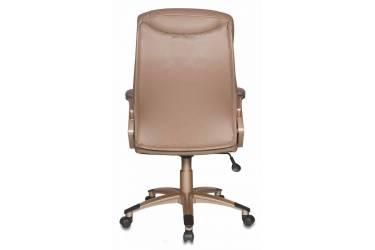 Кресло руководителя Бюрократ CH-875C/Mocca мокко искусственная кожа (пластик медь)