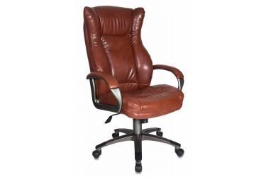 Кресло руководителя Бюрократ CH-879 коричневый искусственная кожа крестовина пластик пластик темно-серый