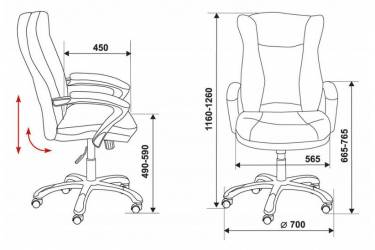 Кресло руководителя Бюрократ CH-879DG/F-C кофейный (пластик темно-серый)