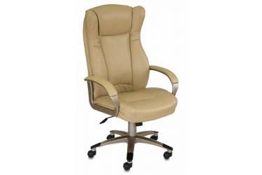 Кресло руководителя Бюрократ CH-879 бежевый искусственная кожа крестовина пластик золото