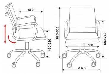 Кресло руководителя Бюрократ CH-993-Low серый искусственная кожа низк.спин. крестовина металл хром