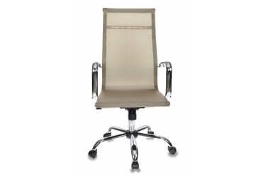 Кресло руководителя Бюрократ CH-993 золотистый сетка крестовина металл хром