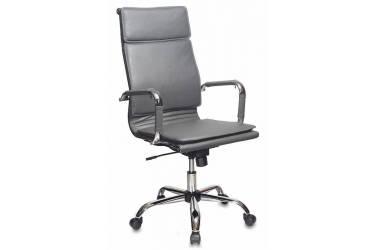 Кресло руководителя Бюрократ CH-993 серый искусственная кожа крестовина металл хром